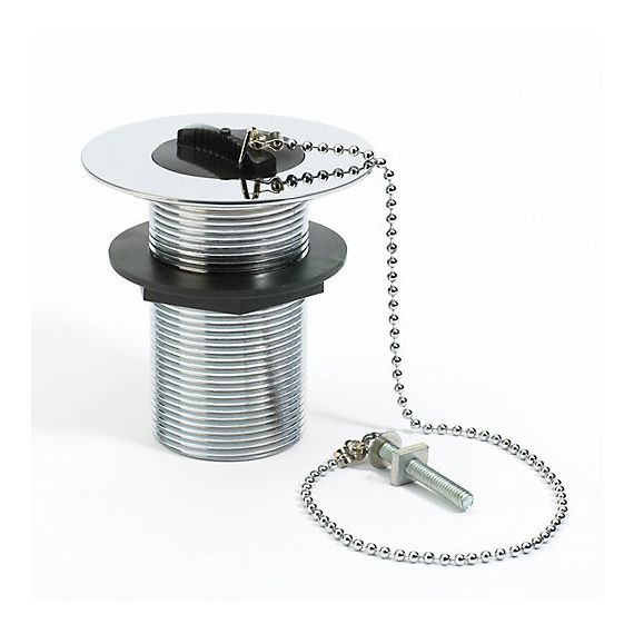 "1 1/2"" Plug & Chain Belfast Sink Waste Unslotted Chrome Brass"