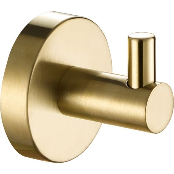 VOS brushed brass robe hook