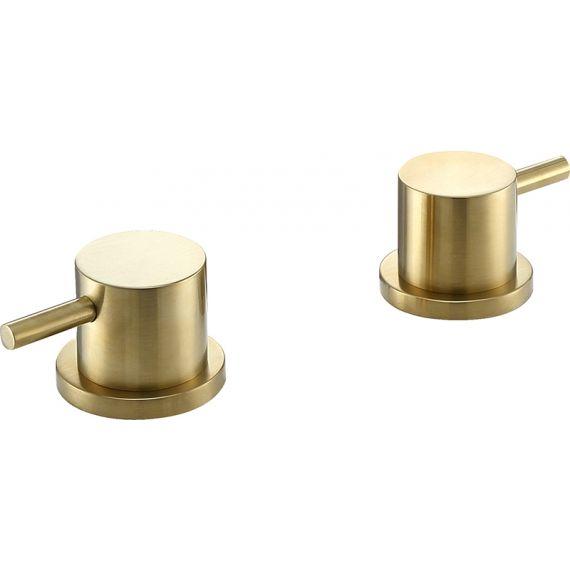 VOS brushed brass panel valves