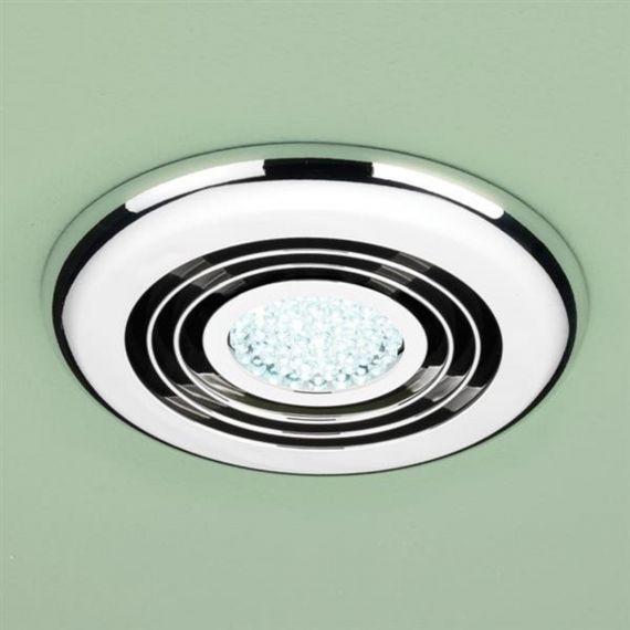 HIB turbo Inline Fan LED Light Chrome