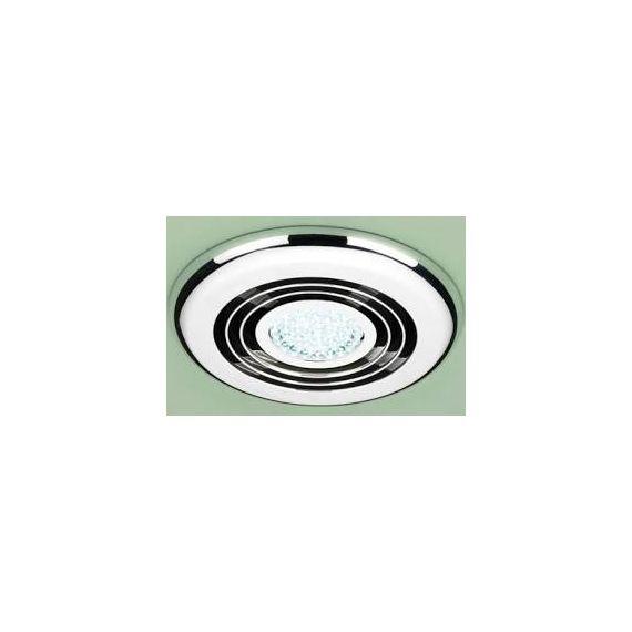 HIB Cyclone Illuminated Wet Room Inline Chrome Extractor Fan 32700