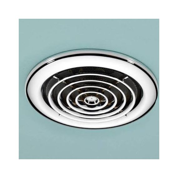 HIB Cyclone Wet Room Inline Chrome Extractor Fan 33400