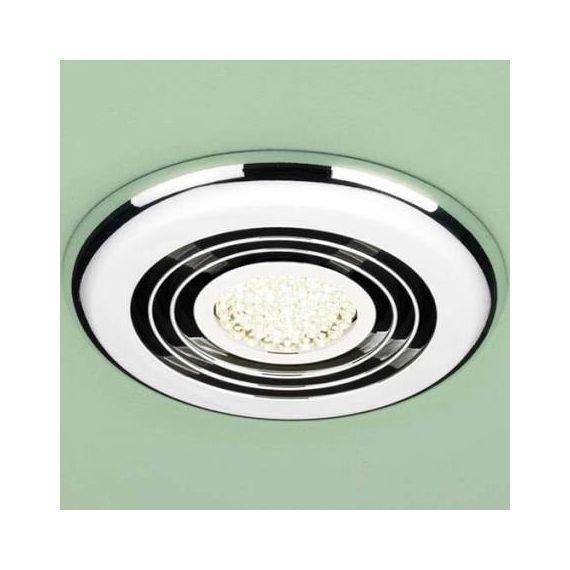 HIB Cyclone Illuminated Wet Room Inline Chrome Extractor Fan - Warm White LED 33700