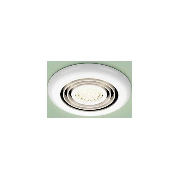 HIB Cyclone Illuminated Wet Room Inline White Extractor Fan - Warm White LED 33800
