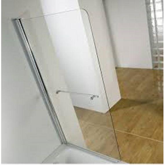 Kudos Single panel bath screen 6mm with towel rail