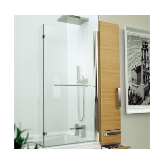 Kudos Inspire L-Shaped Bath Screen with handle 3BASKLWH