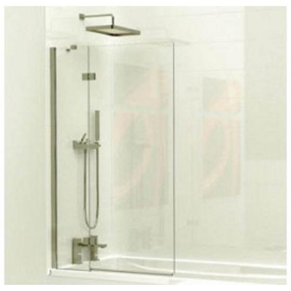 Kudos 2 Panel Inward swinging bath screen 6mm (left hand) with towel rail