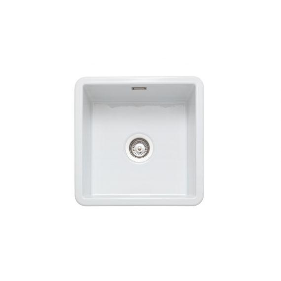 Rangemaster Rustique Ceramic Inset 1 Bowl Square Sink 462x462