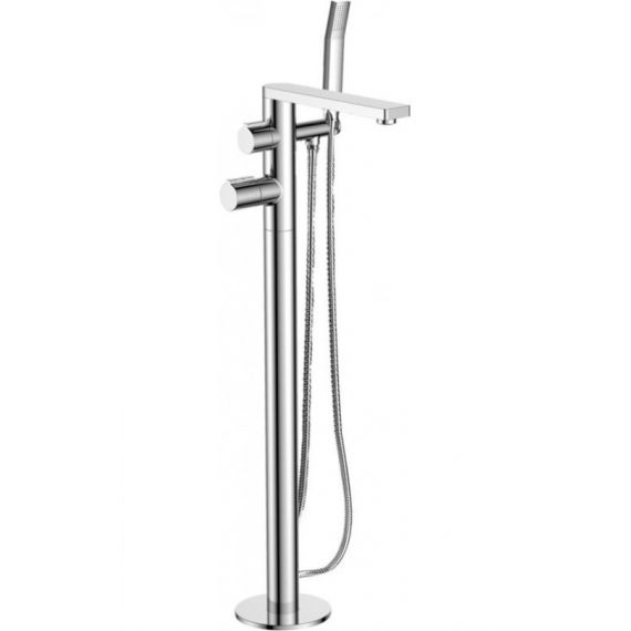 JTP Hugo Thermostatic Floor Standing Bath Shower Mixer Tap with Kit