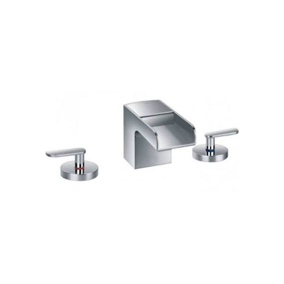 Cascata 3 Hole Basin Mixer 77191 By Just Taps