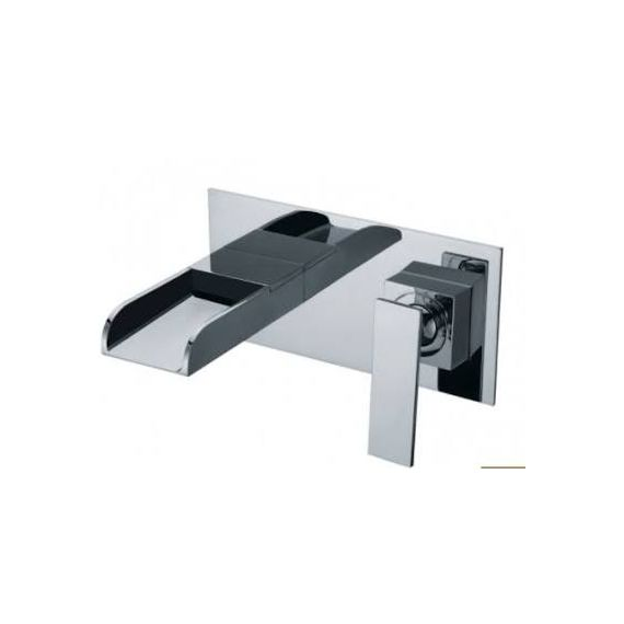 JustTaps Cascata Concealed Wall Mouted Basin Mixer Chrome 77231