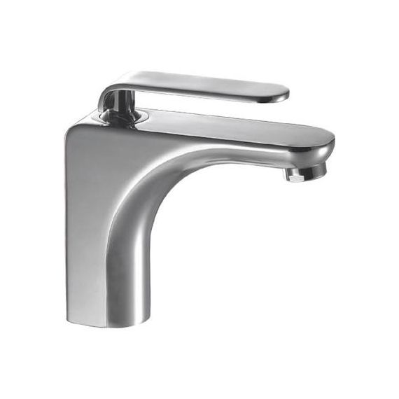JustTaps Vue Single Lever Basin Mixer With Pop Up Waste Chrome 87051