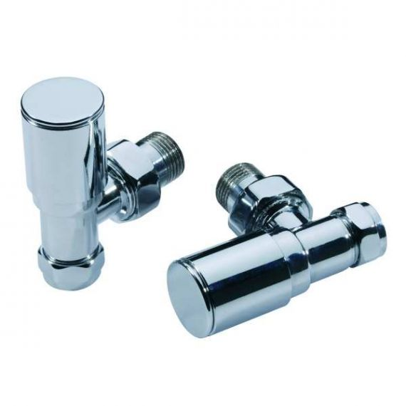 Modern Angled Radiator Valves Contemporary Chrome