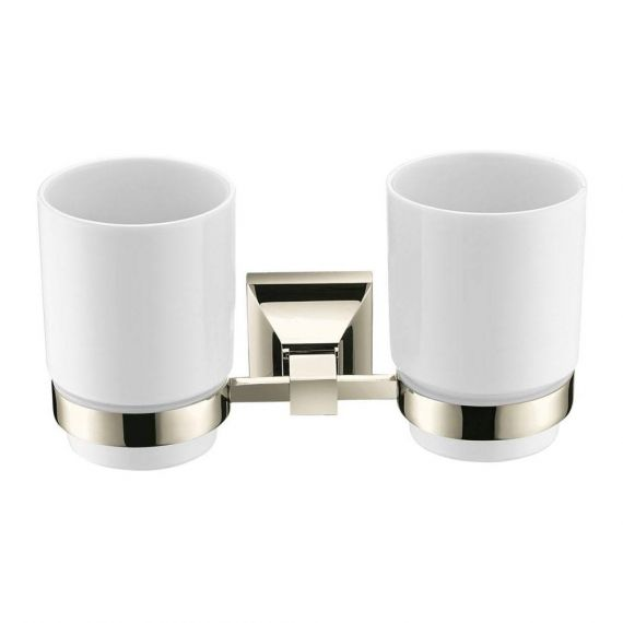 Heritage Chancery Double Tumbler Holder Vintage Gold ACHDTHG