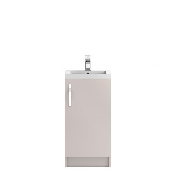 Hudson Reed Apollo Cashmere Floor Standing 400mm Cabinet & Basin