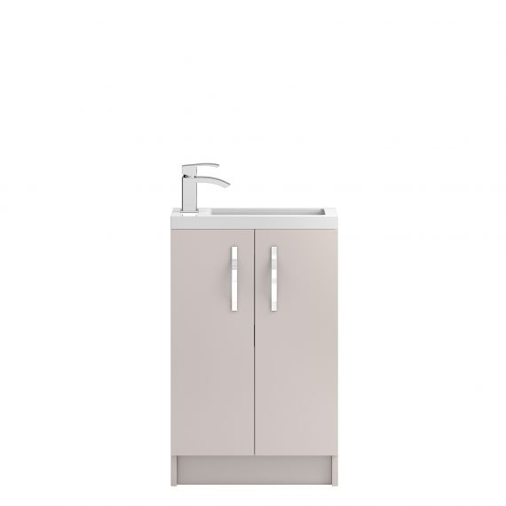 Hudson Reed Apollo Cashmere Compact Floor Standing 500mm Cabinet & Basin