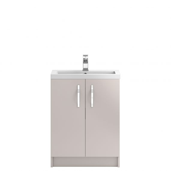 Hudson Reed Apollo Cashmere Floor Standing 600mm Cabinet & Basin