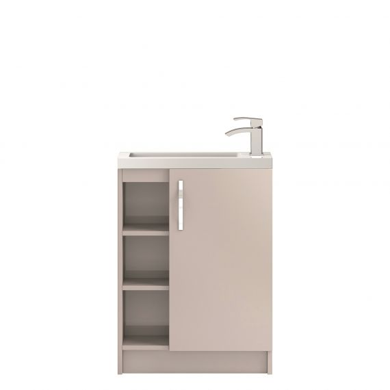 Hudson Reed Apollo Cashmere Compact Floor Standing 600mm Cabinet & Basin