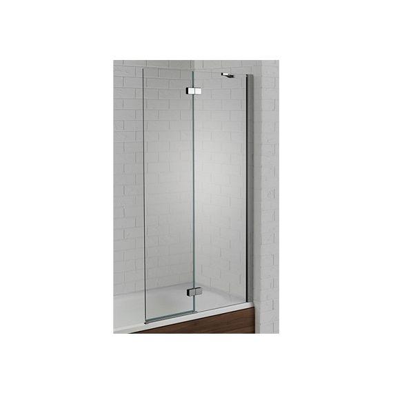 Venturi 6mm Right Hand Silver Hinged Bath Screen 1500 x 900