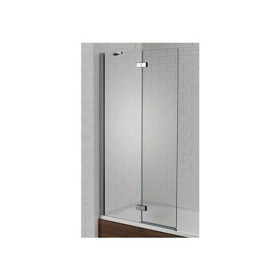 Venturi 6mm Left Hand Silver Hinged Bath Screen 1500 x 900