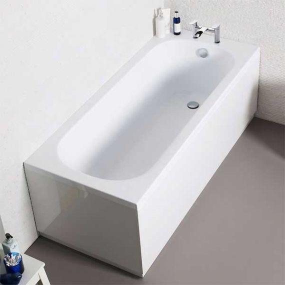 Kartell 1600 x 700mm Single Ended Acrylic Bath with Legset
