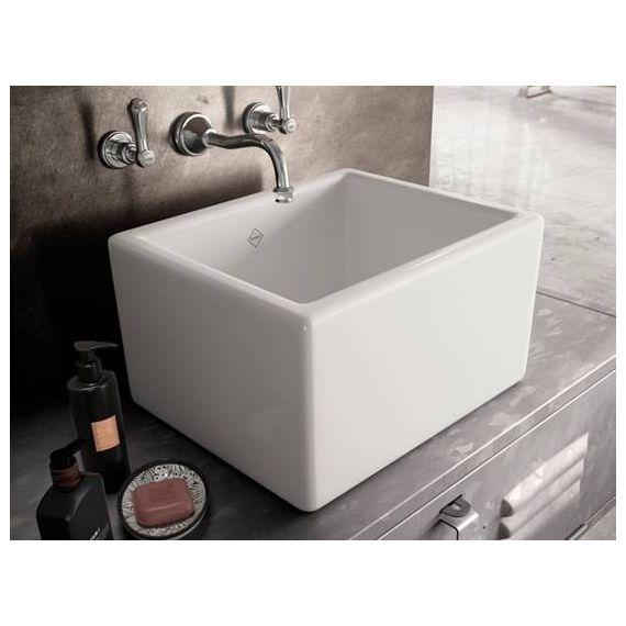 Shaws of Darwen Bathroom Butler Sink White SBBU460WH