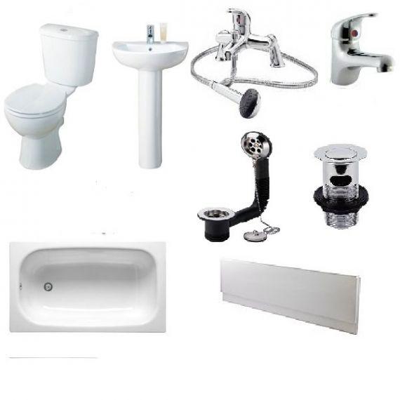 Budget Bathroom Suite 1400mm Bath COMPLETE