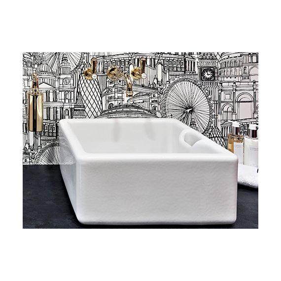 """Shaws Of Darwen Bathroom Belfast 460mm 1 1/4"""" Waste White"""