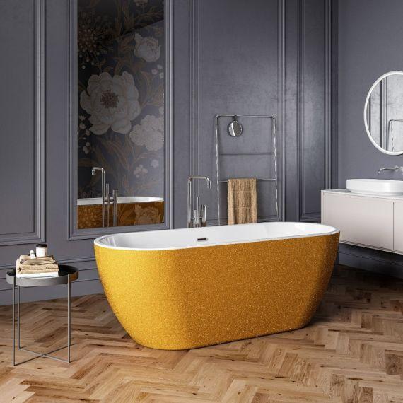 Charlotte Edwards Belgravia Sparking Gold 1690x730 Freestanding Bath CE11027-S-GLD