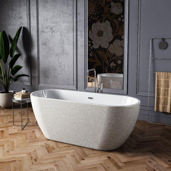 Charlotte Edwards Belgravia Sparking Silver 1690x730 Freestanding Bath CE11027-S-SLV