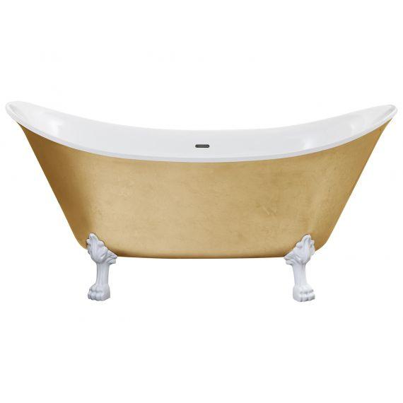 Heritage Lyddington Freestanding Acrylic Bath 1730 x 750mm with Feet Gold Effect