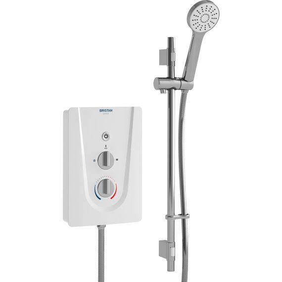 Bristan Smile Electric 8.5kW Shower & Kit White SM385W
