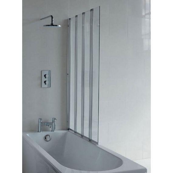 Britton Four Panel Folding Bathscreen