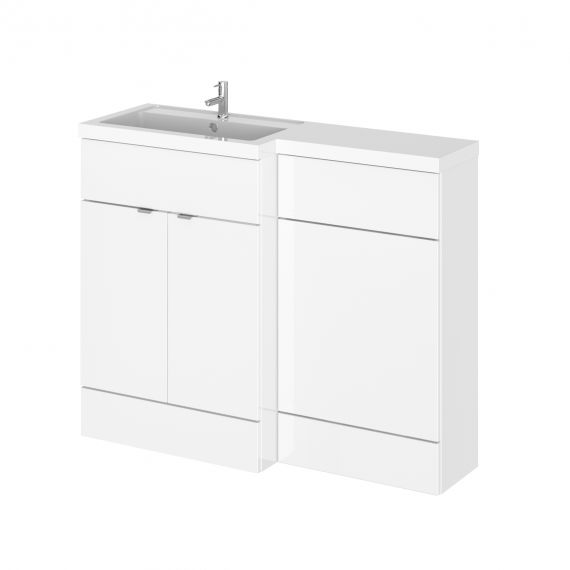 Hudson Reed Fusion White Gloss 1100mm Left Hand Combination