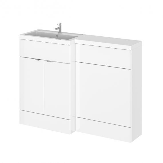 Hudson Reed Fusion White Gloss 1200mm Left Hand Combination