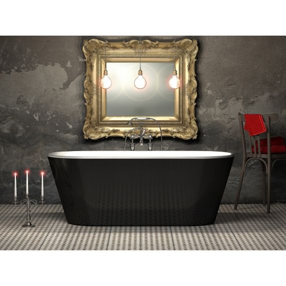 Grosvenor Black 1650 Freestanding Bath