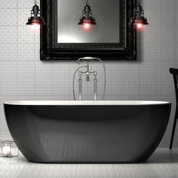 Black Belgravia Freestanding Bath 1690x690