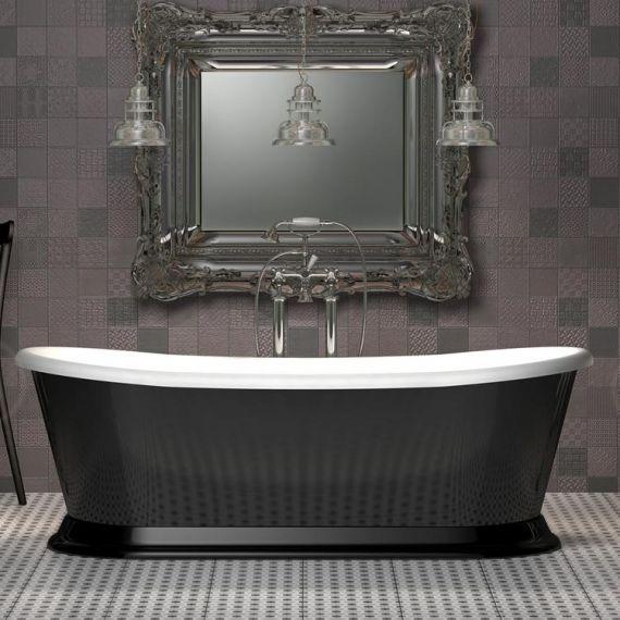 Charlotte Edwards Rosemary 1700mm Black Freestanding Bath