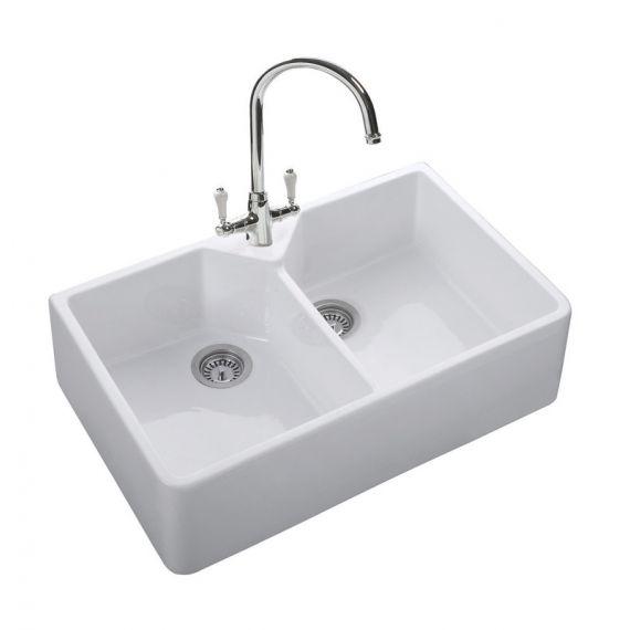 Rangemaster Classic Double Belfast Ceramic Belfast Sink