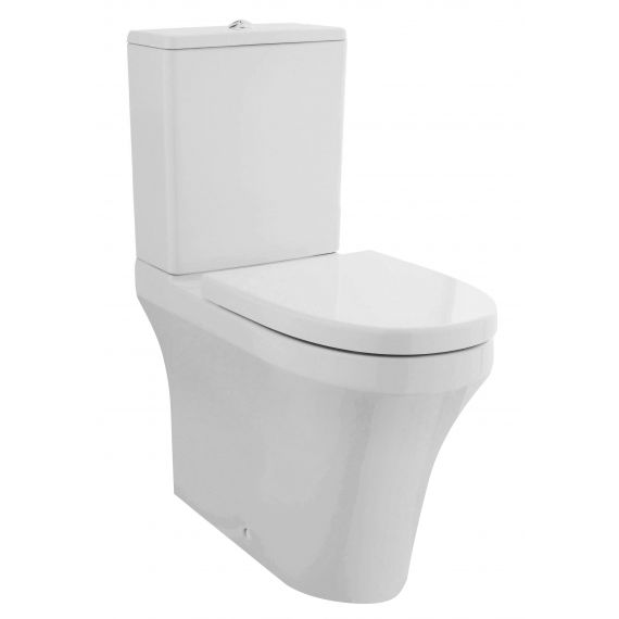 Nuie Provost Rimless Comfort Height Flush to Wall Pan Cistern Seat