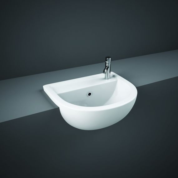 RAK-Compact 55cm Semi Recessed Basin 1th