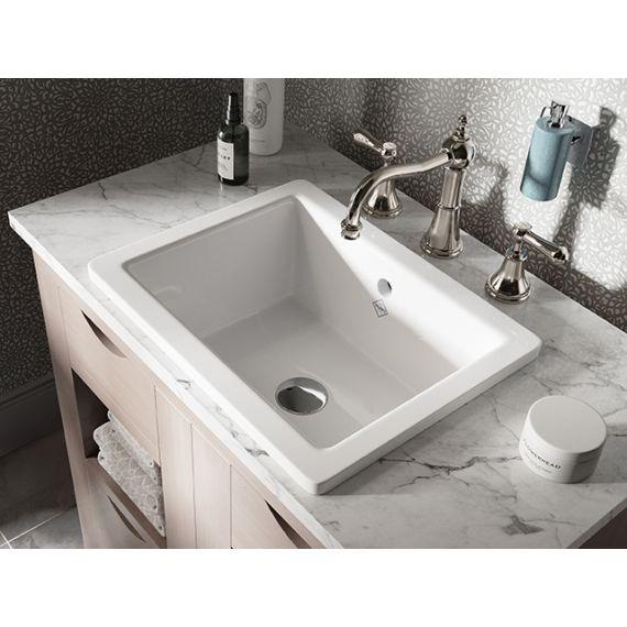 Shaws of Darwen Crossdale White Bathroom Sink SBCR460WH