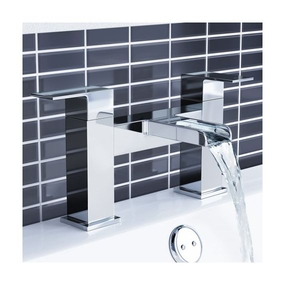 Waterfall Basin & Bath Mixer Tap Set