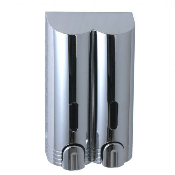 Double Soap Shampoo Dispenser Chrome