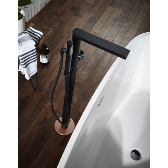 Aquaflow Edition Velar Black & Copper FS Bath Shower Mixer