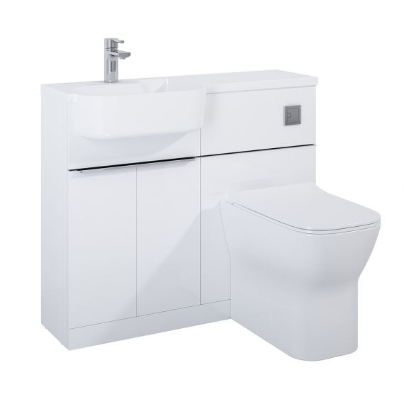 Frontline Linea Furniture Pack Including WC Unit Left Hand - White
