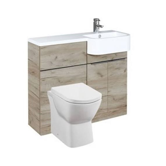 Frontline Linea Furniture Pack Including WC Unit Right Hand - Oak