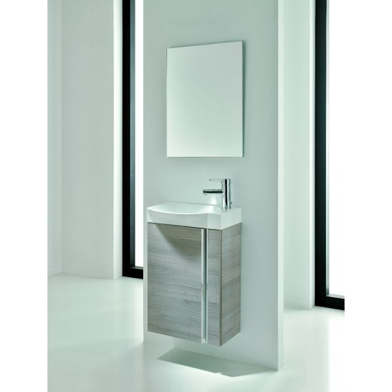 Frontline Elegance Wall Hung Vanity Unit And Mirror - Sandy Grey