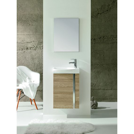 Frontline Elegance Floorstanding Vanity Unit And Mirror - Walnut