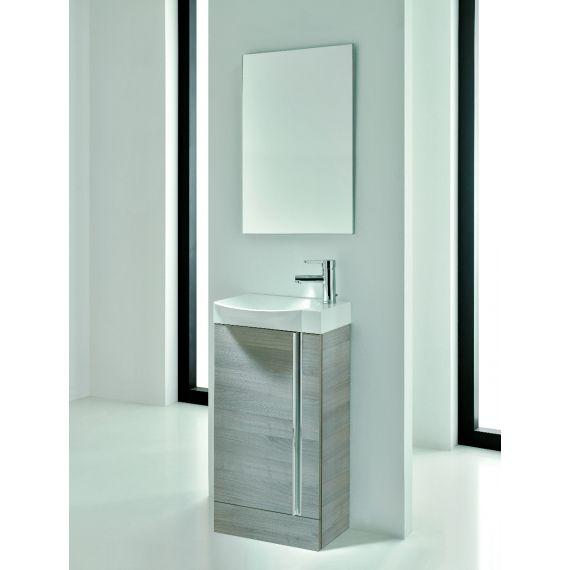 Frontline Elegance Floorstanding Vanity Unit And Mirror - Sandy Grey